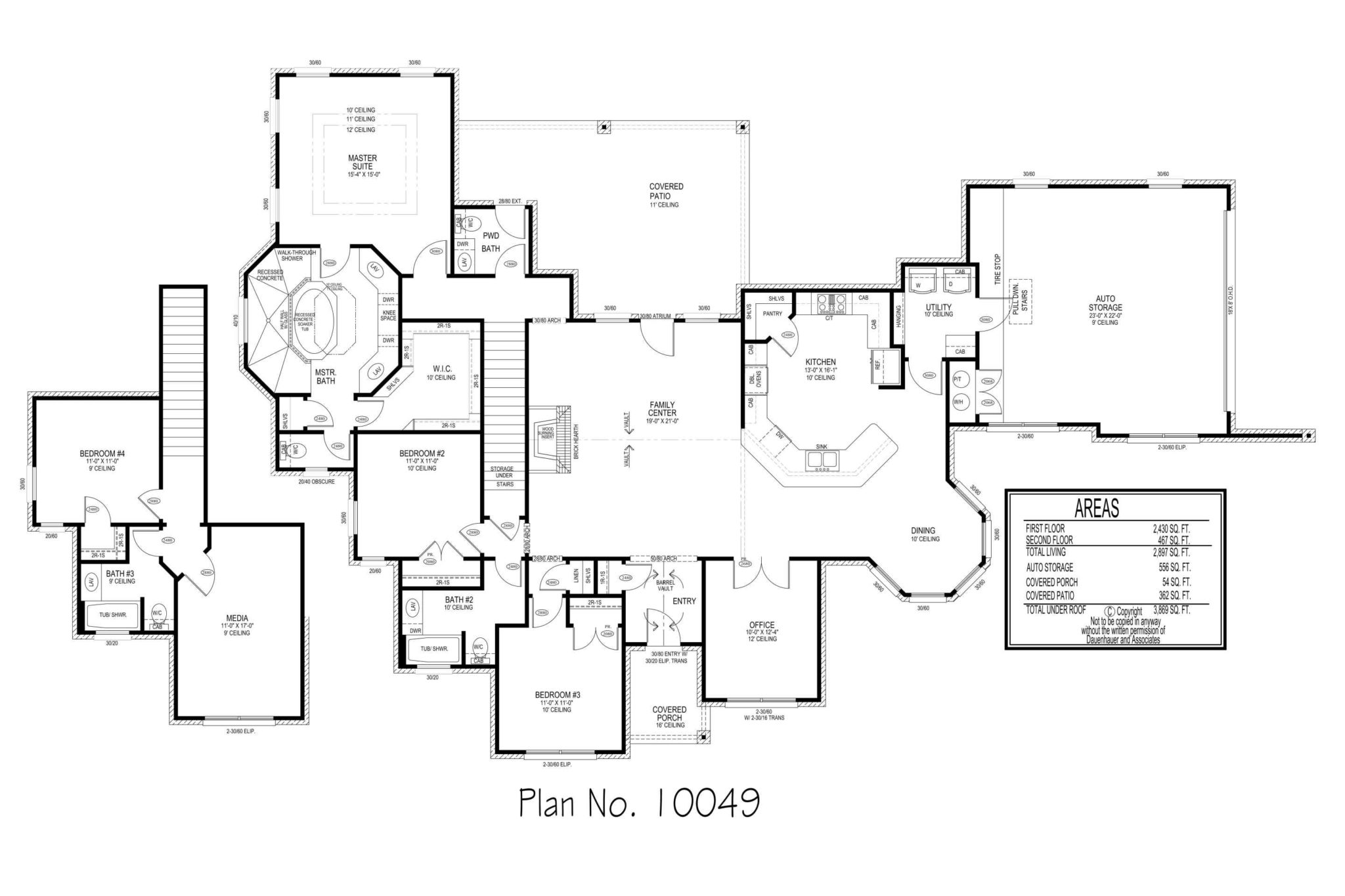100 100 floor plan for 3000 the hacienda iii 41764a for 3000 square foot modular homes